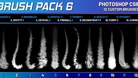 SHIDOOK BRUSH PACK 6 (Photoshop CS6+)