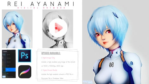 Rei Ayanami [Digital Art]