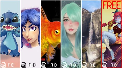 The artbook of Chrno_kun | Digital wallpapers Vol. 1 (2020)
