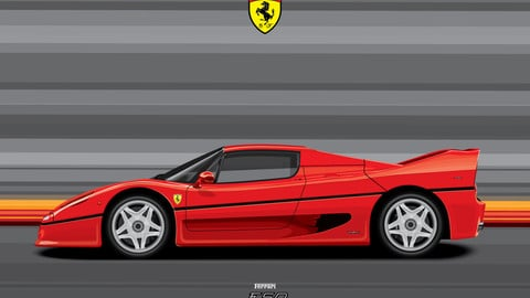 FERRARI F50/Digital File Vector