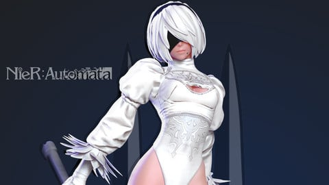 2B Nier - Automata (White version)