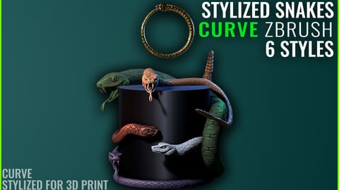 Snake Curve - Zbrush 2020 - Stylized for 3D Print