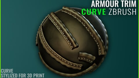 Leather Armour Trim Curve - Zbrush 2020 - Stylized for 3D Print
