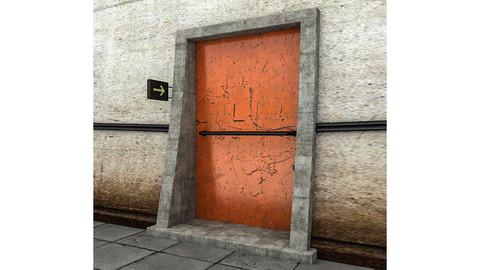 Fire Exit 3d Model