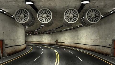 Road Tunnel 3D model