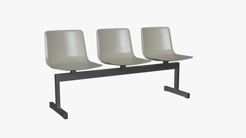 PATO Bench Model-4330 Steel Low-poly 3D model