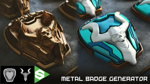 Metal Badge Generator