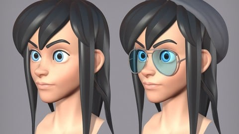 Cute cartoon female character