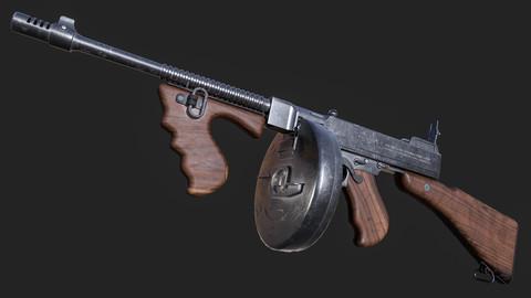Thompson T-1 Submachine Gun