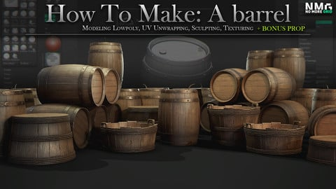 Wooden Barrel - Mini Tutorial