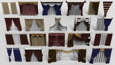 Curtains - part - 1 - 20 pieces
