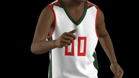 Marvelous Designer,Clo3d project | Basketball Uniform