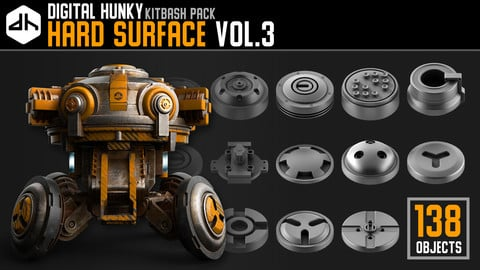 Hard Surface Kitbash Pack Vol.3