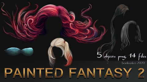 Painted Fantasy 2 - 2D stock images