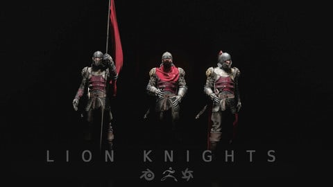 Lion Knights 3D models for Concept Art