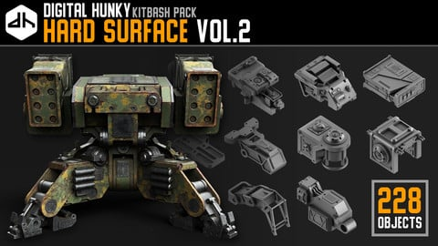 Hard Surface Kitbash Pack Vol.2