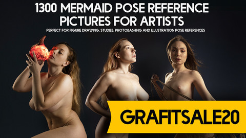 20% OFF - GRAFITSALE20 - 1300+ Mermaid Pose Reference Pictures for Artists