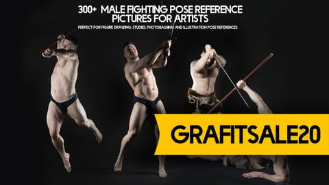 20% OFF - GRAFITSALE20 - 300+ Male Fighting Pose Reference Pictures