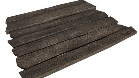 Simple wooden planks (low-poly, game-ready)
