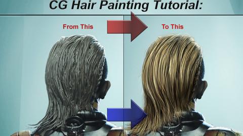 CG Hair Painting Tutorial: Photoshop