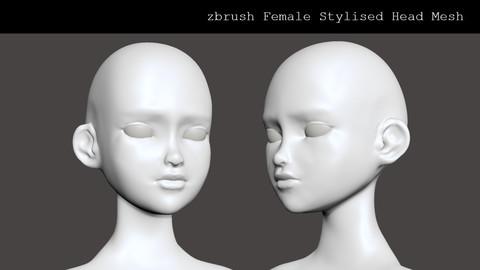 Stylised Female Head Basemesh