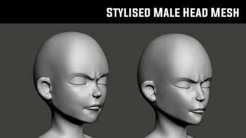 Stylised Male Head Basemesh
