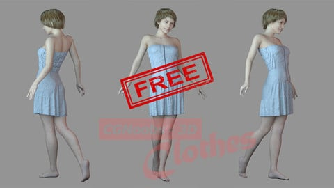 Women Casual Dress - 43 Marvelous Designer and Clo3D