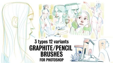 Graphite Pencil Brushes for Photoshop