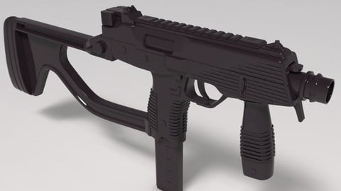 SubMachineGun HighPoly