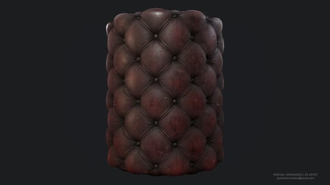 Chesterfield Leather Material - Substance Designer