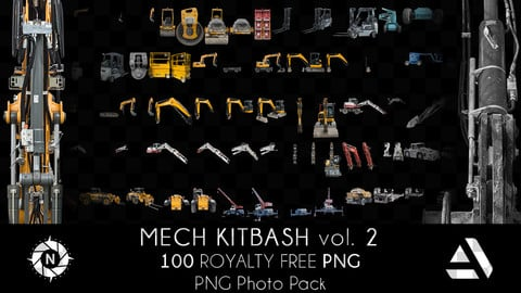PNG Photo Pack: Mech Kitbash volume 2
