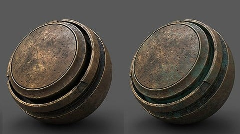 Aged Brass - Flexible Smart material for Substance Painter
