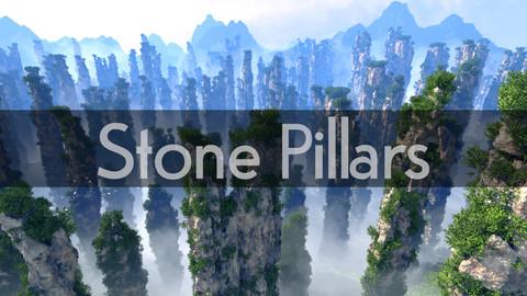 Stone Pillars 3D Rocks