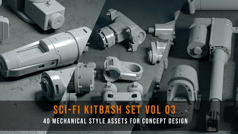 Kitbash Set Vol 03: 40 Mechanical Assets