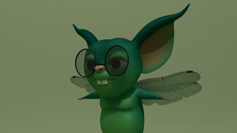 Cartoon Monster Cat-Fly