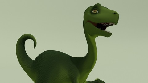 Rigged Fantasy Dino Kid