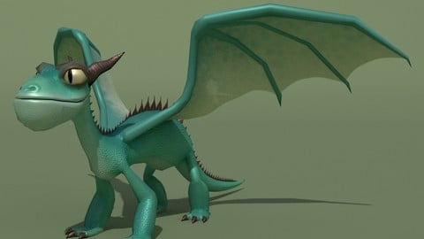 LowPoly Dragon Panteleimon