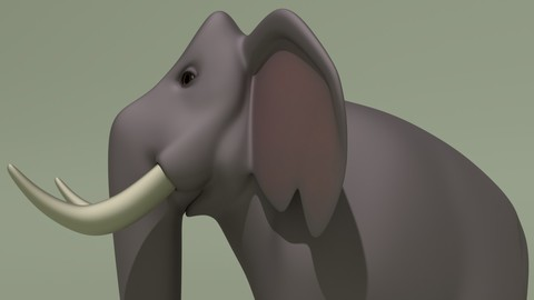 Animated Cartoon Elephant