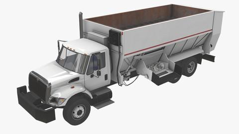 Box Mixer Truck International 7400