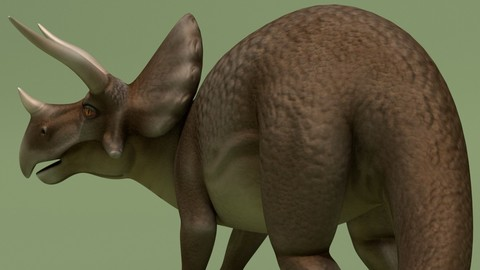 Rigged Cartoon Triceratops