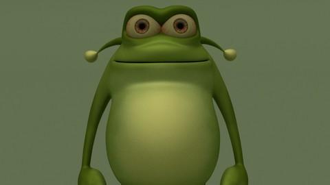Cartoon Green Monster