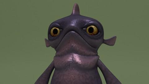 Cartoon Monster Fishy