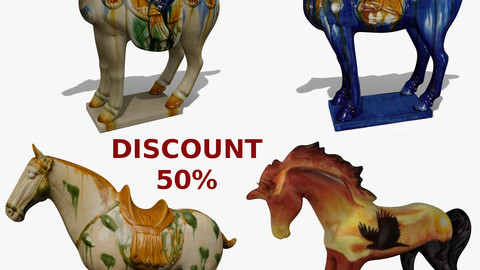 Horse Statuettes Pack 06