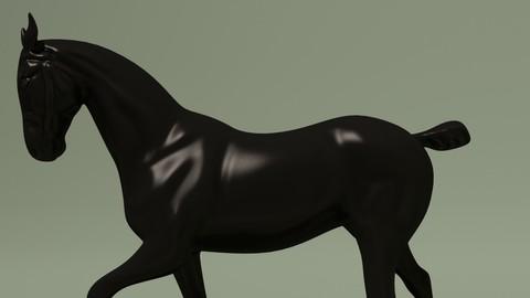 Elegant Bronze Patina Horse