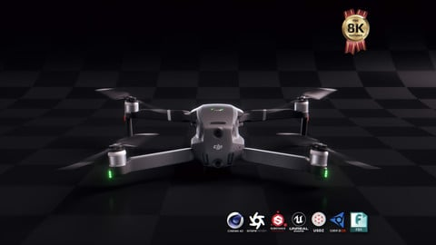DJI Mavic 2 Pro Quadcopter Drone 3D Model