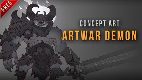 Artwar 4 - Demon concept art - Free timelapse video