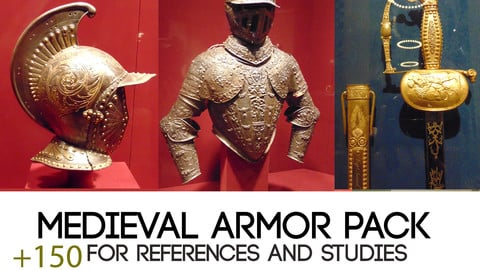 150+ medieval references of armor and ancient weapons