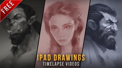 Free - Ipad sketches timelapse videos