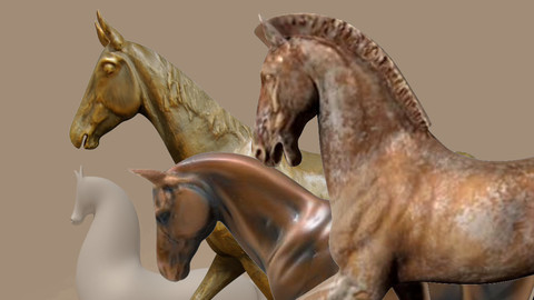 Horse Statuettes Pack 02