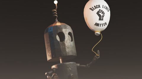 Black Lives Matter Tin Robot Tribute